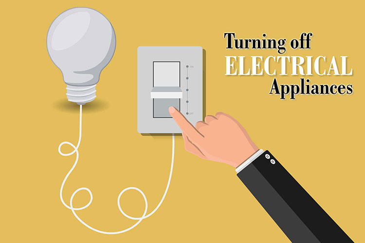 Turning off Electrical Appliances